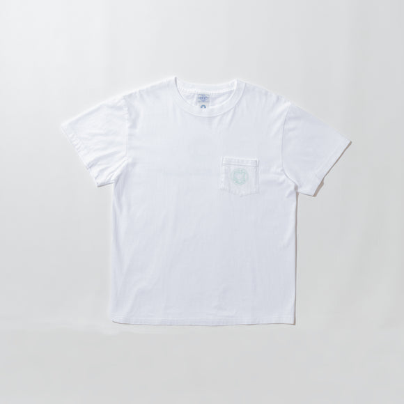 #3001 2D Outline ESS pocket Tee 1 / cotton jersey white