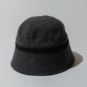 #3904 SAILOR HAT WF2 / wool flannel charcoal heather