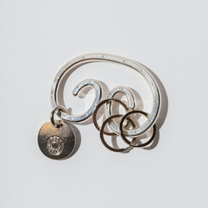 #3908 POST key ring / 925 silver