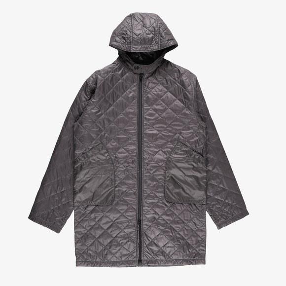 #2137 STREAMLINER Coat  QT1 / quilted nylon taffeta grey
