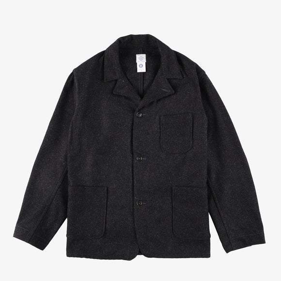 #2140 OK Rider WM2 / wool melton charcoal heather