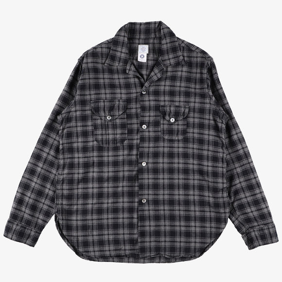 #2214 E-Z Cruz shirt FP1 / plaid flannel navy/grey