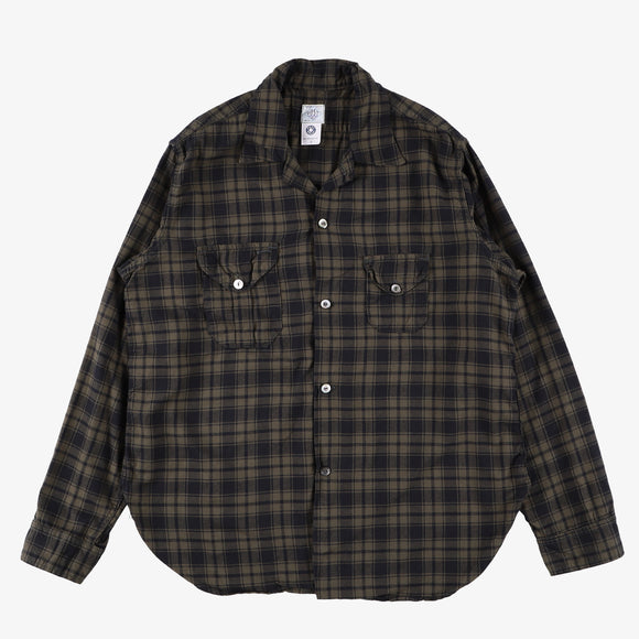#2214 E-Z Cruz shirt FP2 / plaid flannel navy/olive