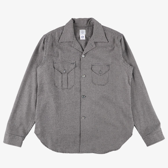 #2214 E-Z Cruz shirt HTF / houndstooth flannel black/lt grey