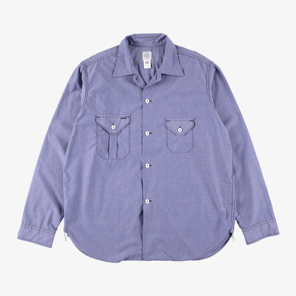 #2214R E-Z cruz Shirt R CT2 / cotton typewriter indigo