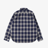 #3205 E-Z Cruz R2PF3 / plaid flannel navy x natural