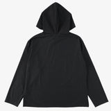 #3607 E-Z Hoodie LLC MPJ / mid weight poly jersey dark charcoal heather