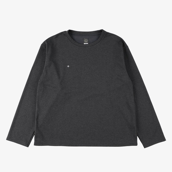 #3608 E-Z L/S Tee PJ1 / poly jersey charcoal heather