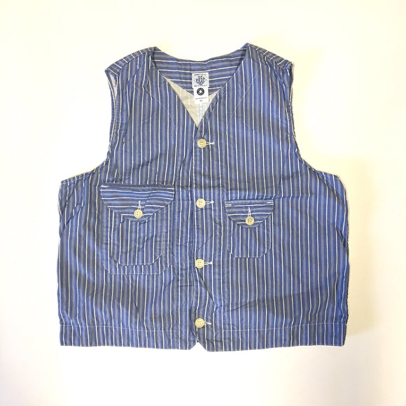 #1515 Cruzer Vest / stripe shirting / L,XL size