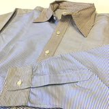 #2201 / POST BL Shirt / horizontal stripe combo / S size
