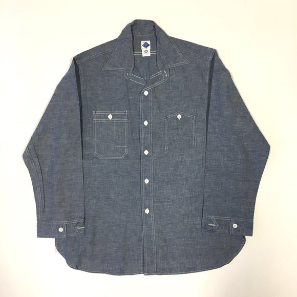 #1206 No.6 Shirt / blue chambray / L size