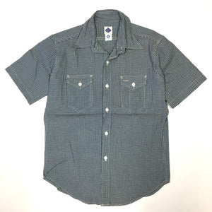 #1232 LIGHT Shirt / gingham denim / S size