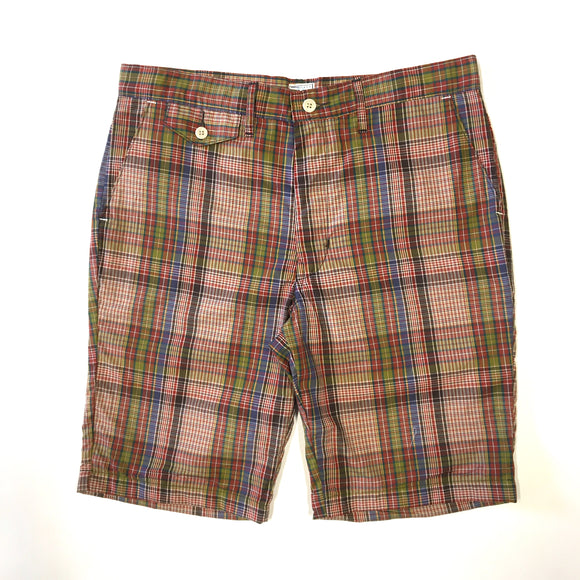 #1374L Lined MENPOLINI Short / plaid shirting / S,M,L size