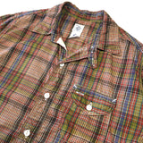 #1249 C-POST6 S/S / plaid shirting / S~XL size