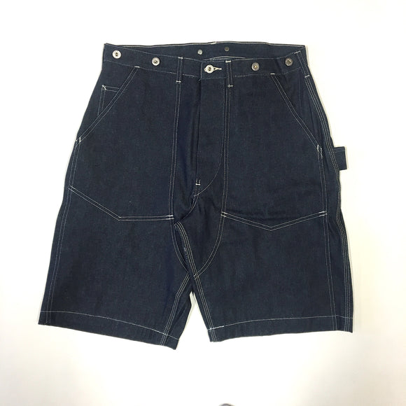 #1302 W-KNEE Dungarees Short / 10 oz. blue