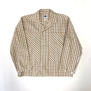 #1204 Army Shirt / cotton plaid / S size