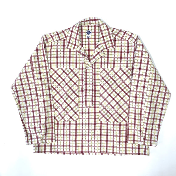 #1204 Army Shirt / cotton plaid / M size