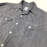 #1231N New Light Shirt / cotton linen feather chambray / M~XL