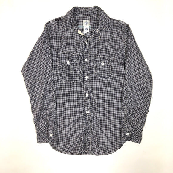 #1252 Engineers' Shirt 3 / houndtooth shirting / XS, S size