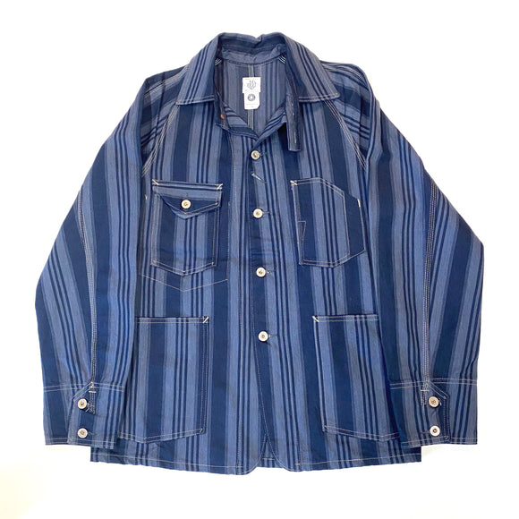 #1102 Engineers' Jacket / multi stripe / S size