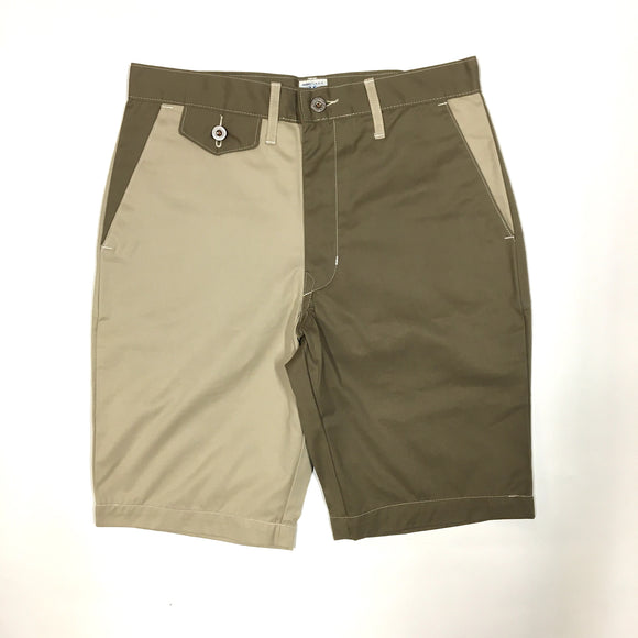 #1374 MENPOLINI Short / cotton twill combo / S size