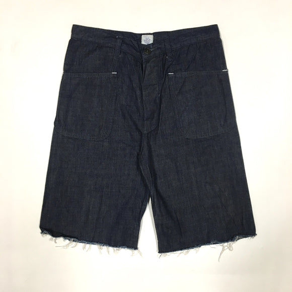 1304S NAVY Pants Cutoff / Japanese denim / M size