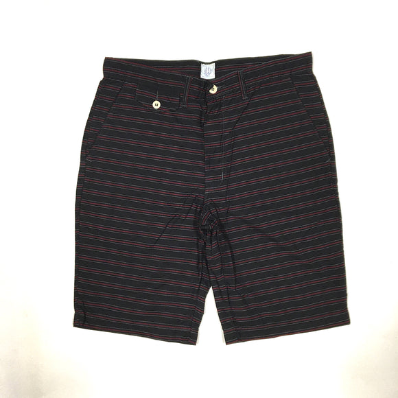 #1374L Lined MENPOLINI Shorts / horizontal cut stripe / M size