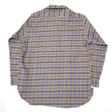 #1206 No.6 Shirt / cotton denim plaid / purple / S size