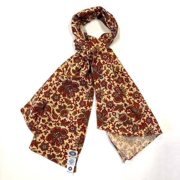 #1950DC calico neckwear w/ DAILY CURE  / yellow flower