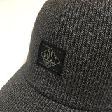 #4101 POST Ball Cap SH / grey heather stripe charcoal *shop special