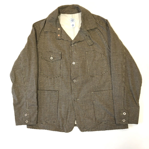 #1102L Lined Engineers' Jacket / houndstooth tweed / XL size