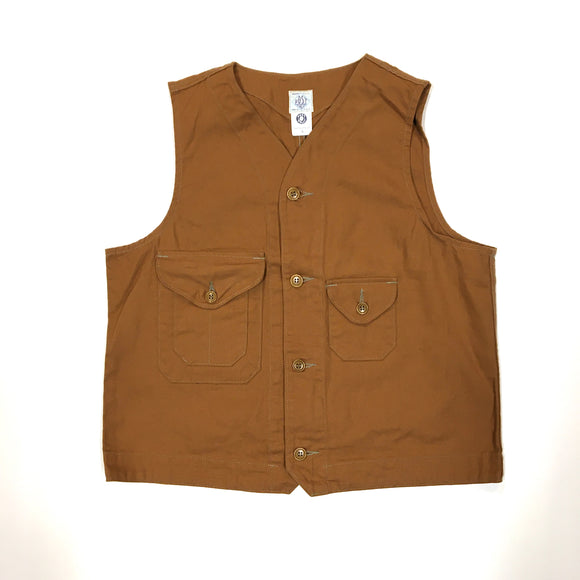 #1515 CRUZER vest / brown canvas / XS, S, M, L size