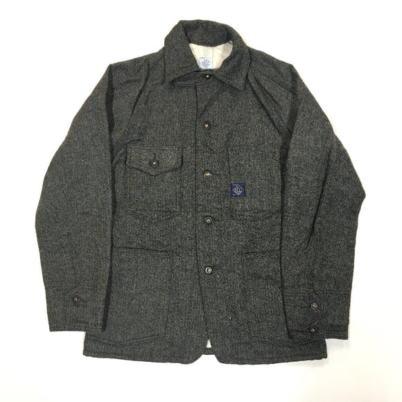 #1102L Lined Engineers' Jacket / wool HBT tweed / XS, M size