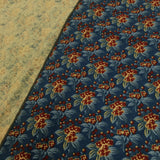 #1950DC calico neckwear w/ DAILY CURE  / blue flower