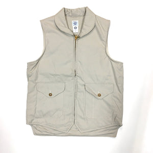 #1520 Navy-cruz vest / cotton poplin / XS〜M