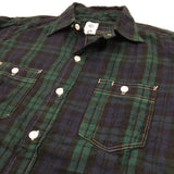 #1247 Enigineers' shirt 2 /plaid flannel / M size