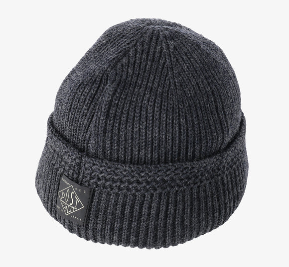 #4102 POST Beanie 1 / wool knit dark charcoal heather