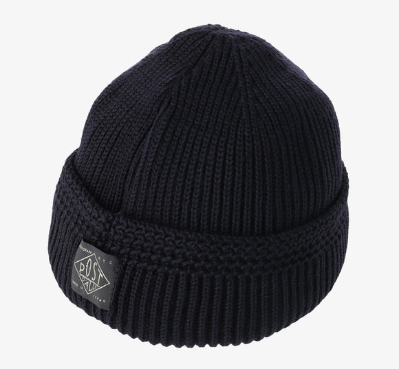 #4102 POST Beanie 2 / wool knit navy