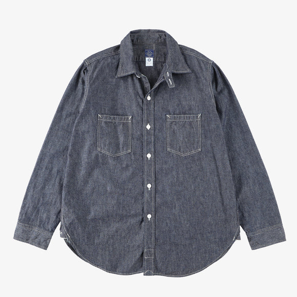 #2216 The POST III-R-W HC / heavy chambray indigo