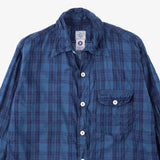 #1270 C-POST 8 / cotton blue plaid check
