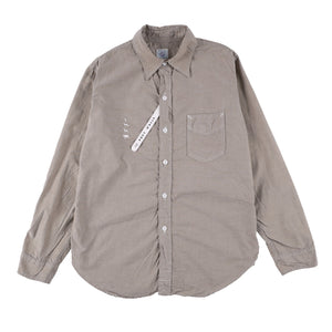 x Mountain research 動物刺繍 shirt  / khaki Oxford