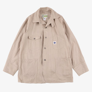 #1102 Engineers' Jacket / 5 oz. Khaki Ticking stripe