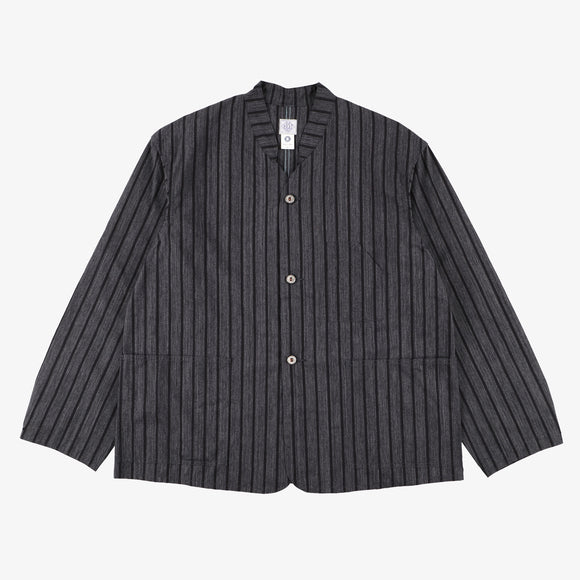 #1109R SH / stripe heather charcoal