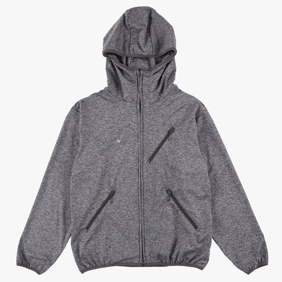 #3601 EZ HOODIE LJ2 / light weight poly jersey ash heather