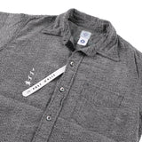 x Mountain research 動物刺繍 shirt  / lt grey heather flannel