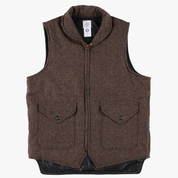 NAVY-Cruz Vest / wool HBT brown