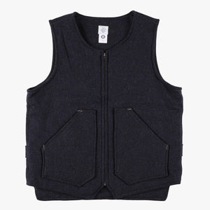 Northwest Vest / wool HBT charcoal