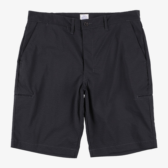 #2321S CITI-CRUZ Shorts PCS1 / P/C seersucker black