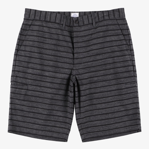 #2321S CITI-CRUZ Shorts SH / stripe heather charcoal