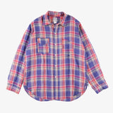 #3201 1102 Shirt LP1 / linen plaid red